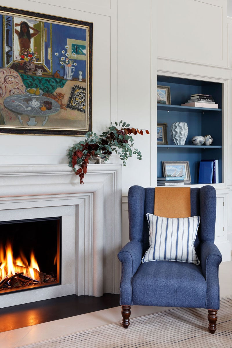 Blue Chair in aa living area